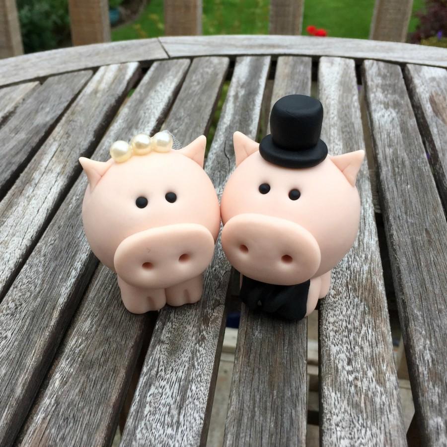 Свадьба - Pig Wedding Cake Topper