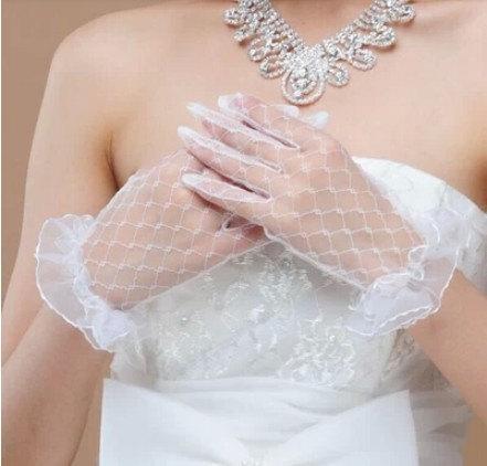 زفاف - Lace  bridal gloves white bridal gloves lace wedding gloves ivory white