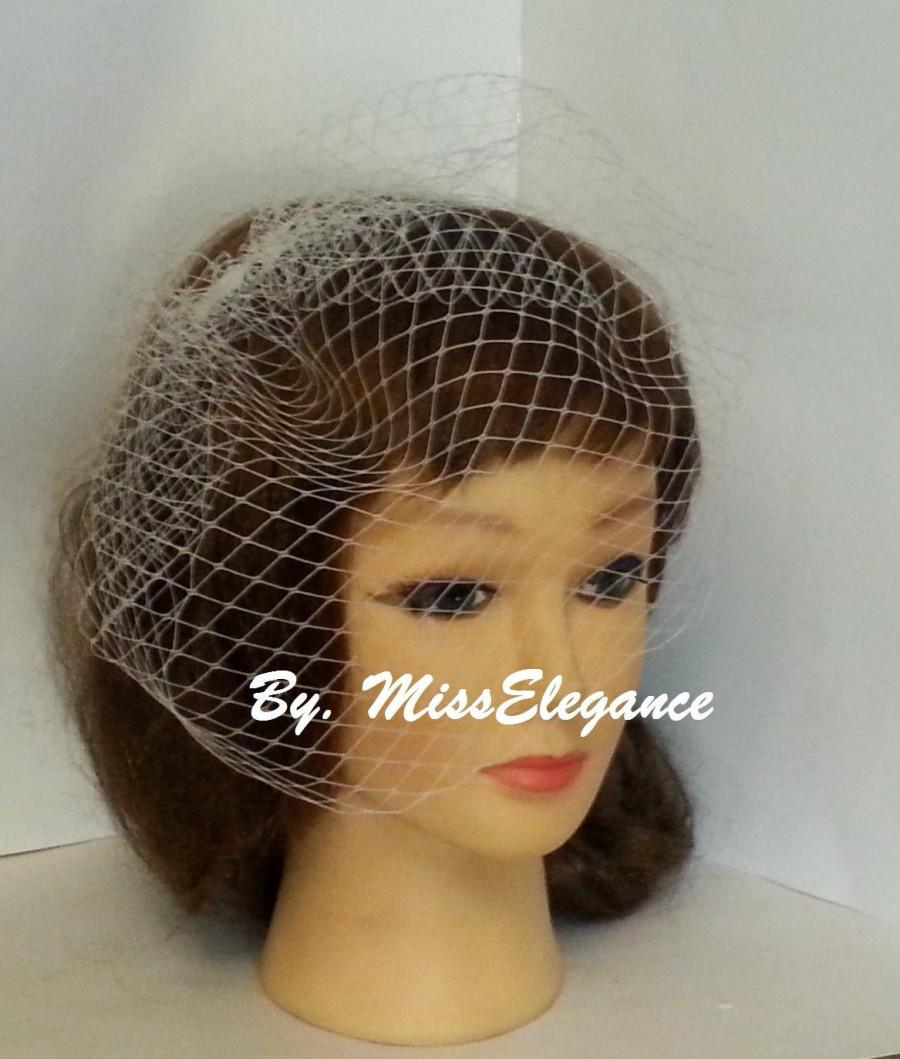 Свадьба - Birdcage vei with top comb Blusher veil, French,Russian Net Veil.Wedding blusher veil ,Bridal birdcage veil with  top comb,Hair accessory