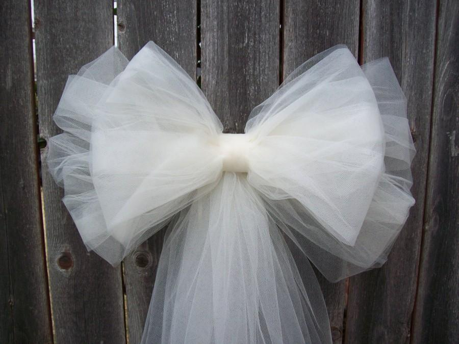 Tulle Pew Bow Over 20 Colors Tulle Church Pew Decor Tulle Pew