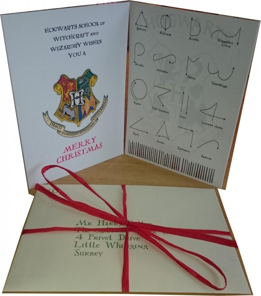 Personalized Harry Potter Christmas Card - Includes Hogwarts Express ...