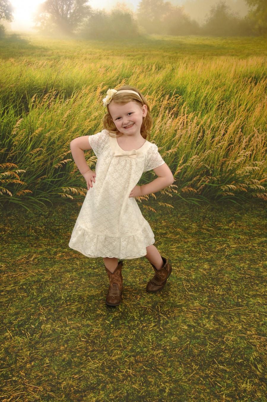 Sweet Cream Dress Flower Girl Dress Lace Dress Toddler