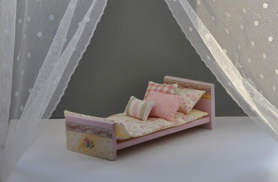 Surprising Wooden Doll Bed Doll Furniture Doll Accessories Dollhouse Bralicious Painted Fabric Chair Ideas Braliciousco