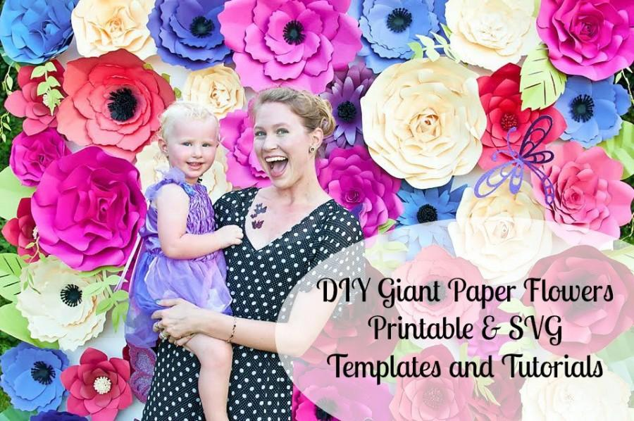 Giant paper flower templates tutorials printable flower templates giant paper flower templates tutorials printable flower templates svg flower cut files mightylinksfo Images