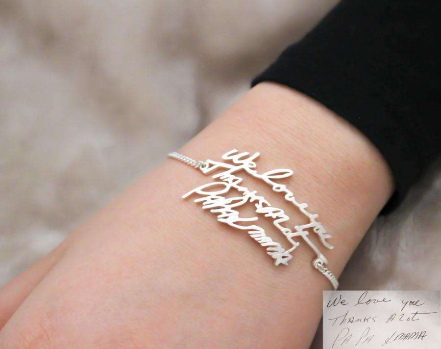 23a9afe4bda28 30% OFF! Handwriting Jewelry - Handwriting Bracelet - Signature ...