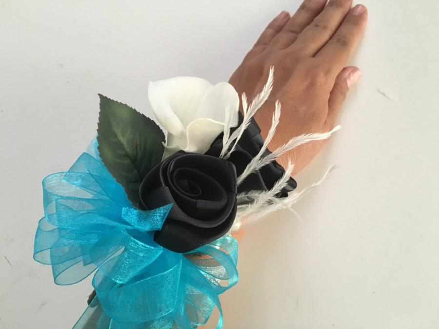 Mariage - CORSAGE, mom corsage, Turquoise corsage