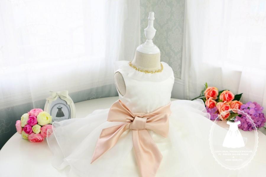 زفاف - HOT!! Toddler/Infant/Baby/Newborn Flower Girl Dress, Glitz Pageant Dress, Tutu Dress, Birthday Dress, PD028