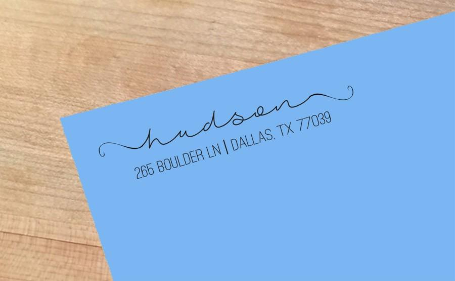 زفاف - Self Inking Address Stamp Design Name Stamp Wedding Gift House Warming Gift Save the Date Monogram Stamp - NPA-00030