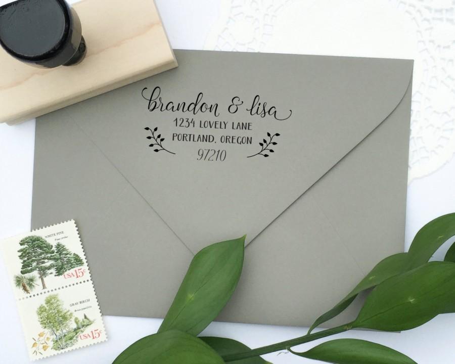 زفاف - Address Stamp - custom address stamp - return address stamp - calligraphy address stamp - custom stamp - rubber stamp - Z1139