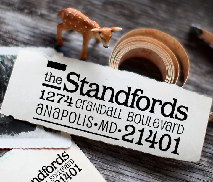 زفاف - Self Inking Address Stamp - Custom Address Stamp - Pre Inked - Personalized Gift - 1044