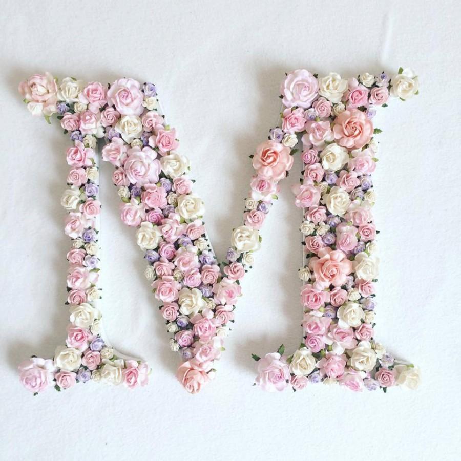 Mariage - Custom order floral letter //baby shower gift// wedding decor // home decor