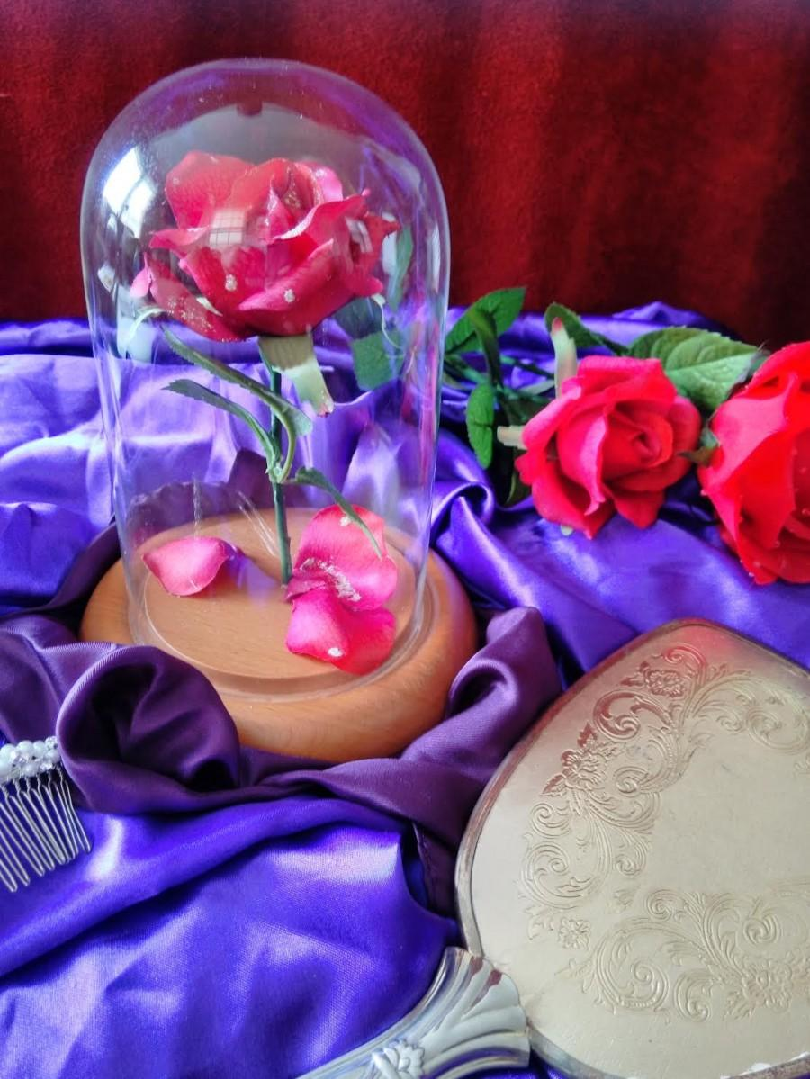 Mariage - Life Size Replica Beauty and the Beast Enchanted Floating Rose - Custom Made