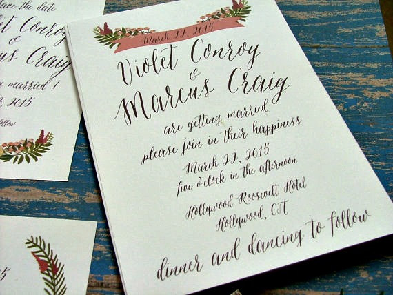 زفاف - Wedding Invitations, Rustic Invitation, Woodland Wedding, Floral Invitations, Handwritten, Outdoor Wedding, Barn Wedding, Garden Wedding
