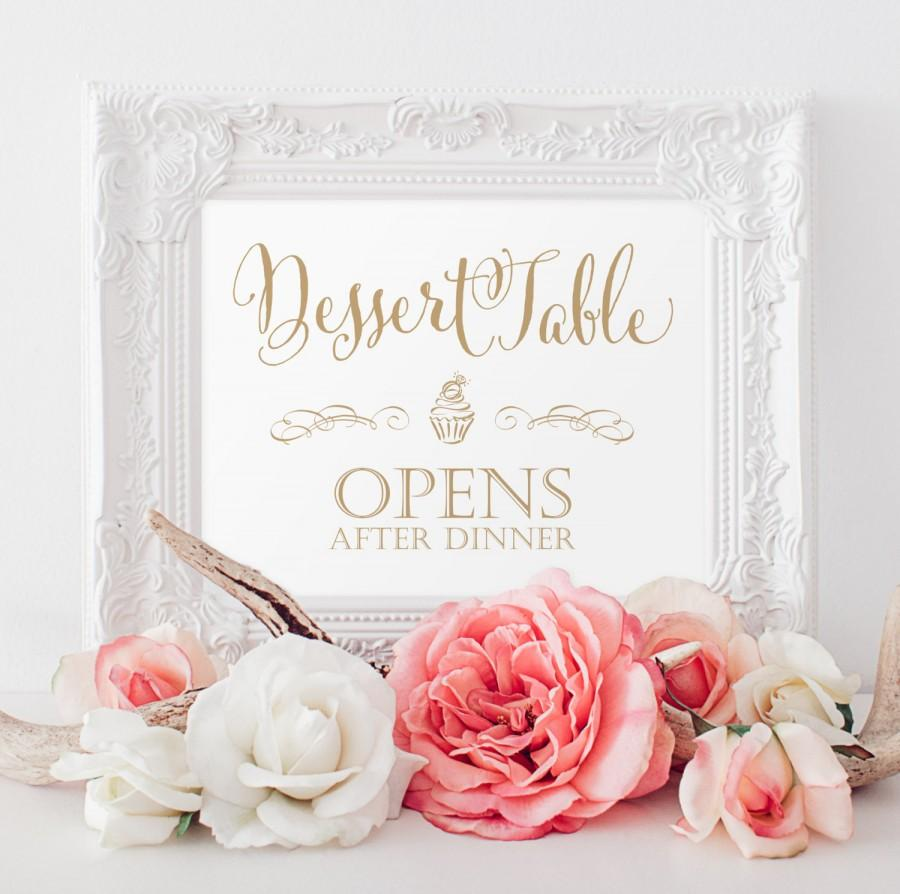 Mariage - Dessert Table Sign