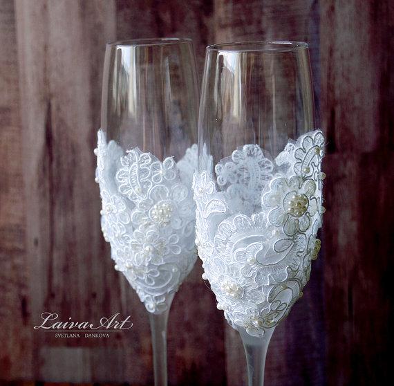 Wedding - Wedding Champagne Flutes Toasting Glasses Toasting Flutes Wedding Champagne Flutes Bride and Groom Wedding Glasses