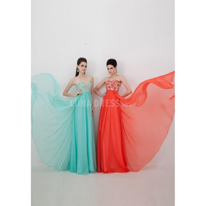 Mariage - Splendid Floor Length Chiffon & Lace Sweetheart A line Sleeveless Prom Dresses With Pearls - Compelling Wedding Dresses