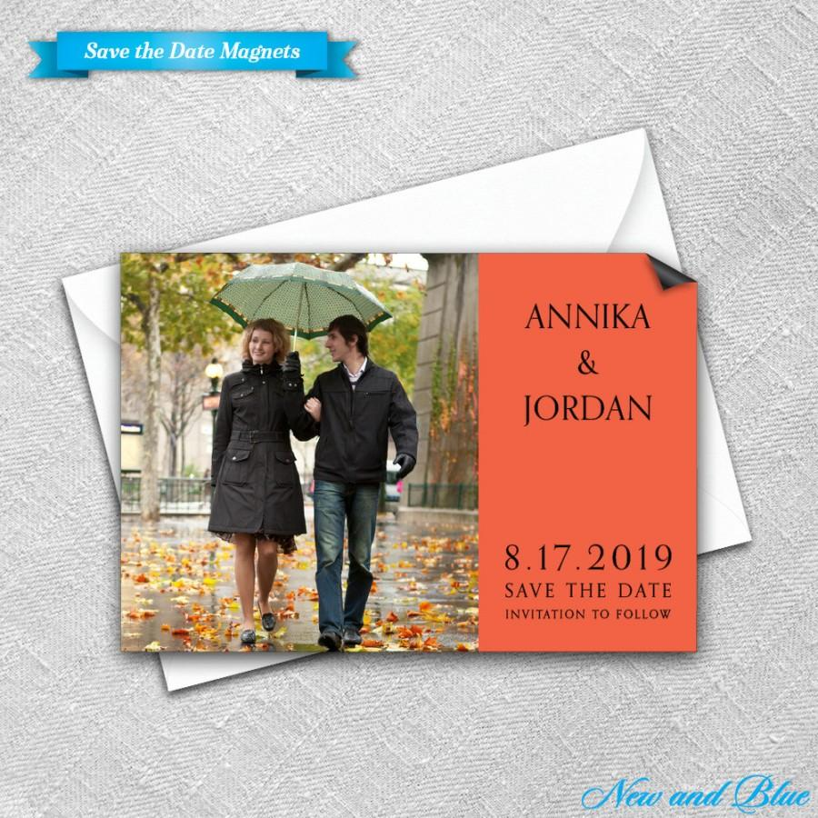Save The Date Magnet + Envelope - Photo Wedding Magnets - Dreams ...