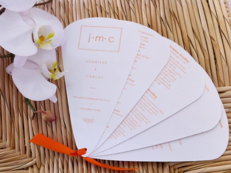 Wedding - DIY Perforated Wedding Program Fan Sheets