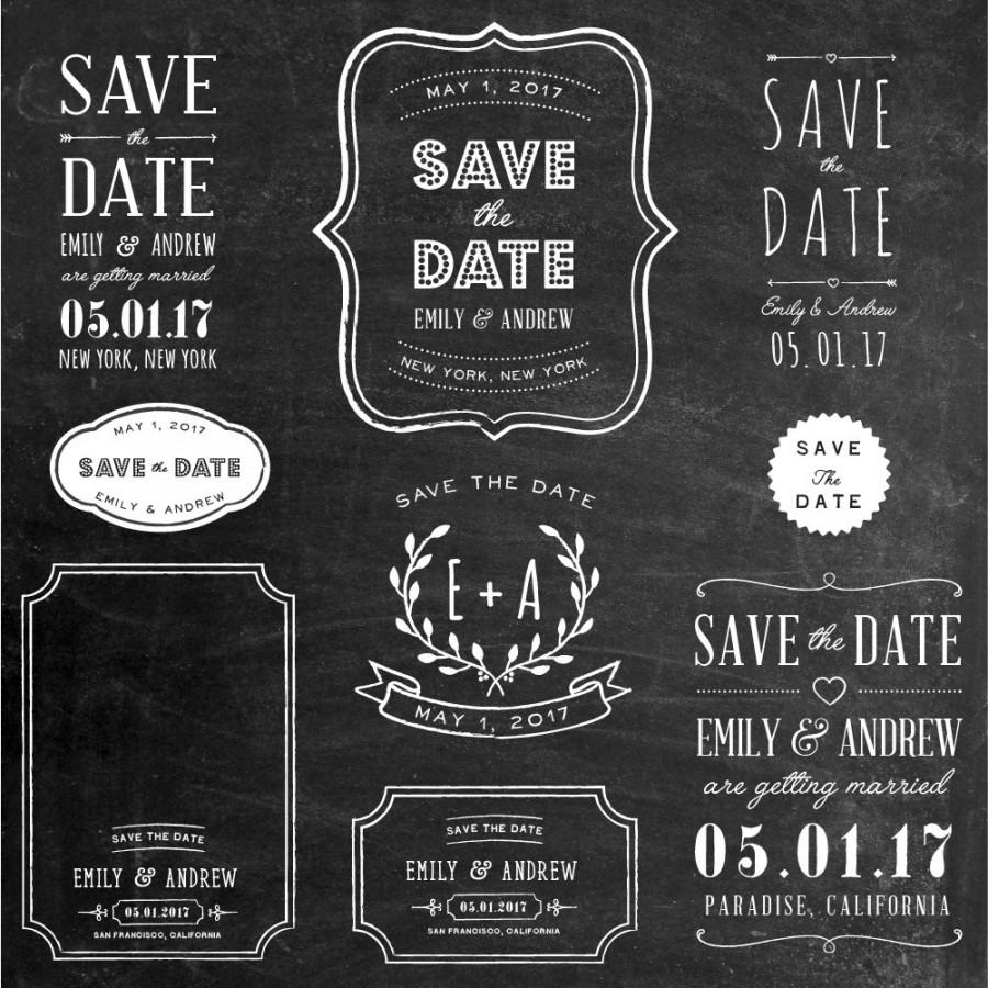 photoshop clipart overlay save the date wedding