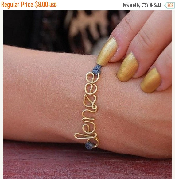 Hochzeit - 30ff Wire name personalized friendship bracelet, clover, infinity, heart