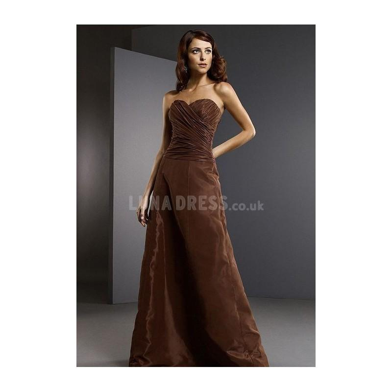Boda - Attractive Floor Length Natural Waist Sweetheart Taffeta Maid of Honor Gowns - Compelling Wedding Dresses