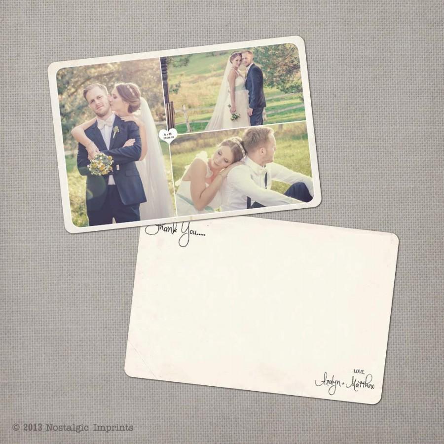 "زفاف - Thank You Cards, Wedding Thank You Cards, Thank You Note Cards, Vintage cards, Thank you card - the ""Aralyn 2"""