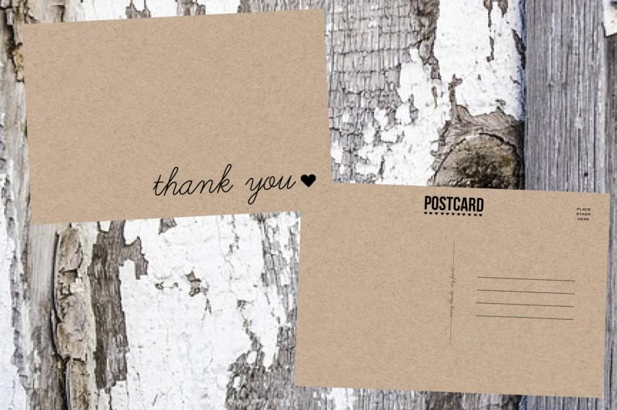 Thank You Postcards Wedding Thank You Postcard 2617356 Weddbook