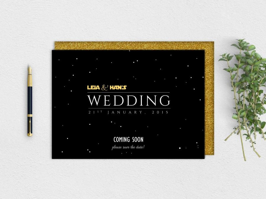 Mariage - Star Wars Save the Date - Instant Download PDF Printable