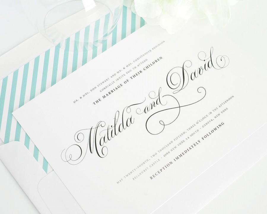 زفاف - Angelic Script Wedding Invitations - Deposit