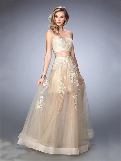 Gold Sweetheart Long Dress and Short