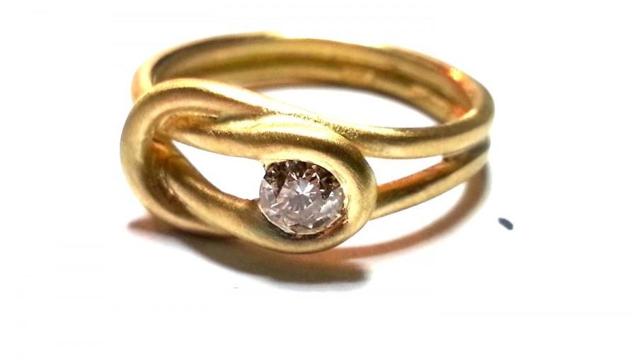 زفاف - Unique Engagement Ring Wedding Ring Tension setting Designers Solitaire band Gold Diamond Ring Gold Ring Fine Jewelry Unusual Different