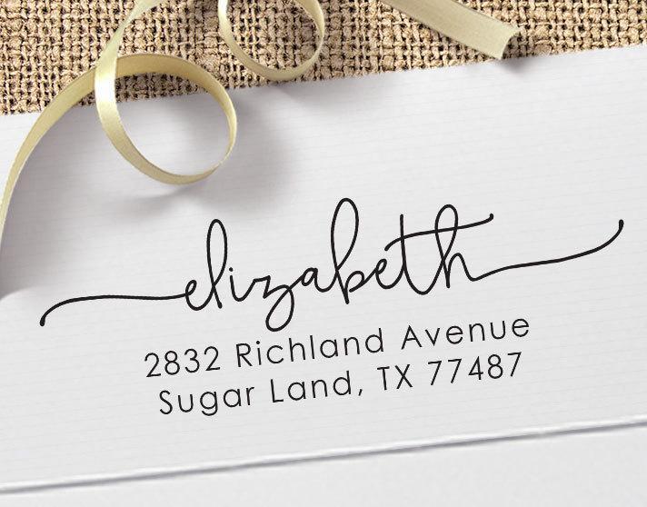 Wedding - Personalized Return Address Stamp - Custom Rubber Stamp - Custom Return Address Stamp - Custom Stamp - Personalized Address Stamp - RA023