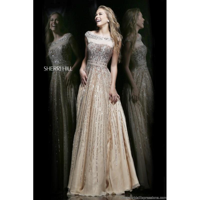 0410893fa7 Sherri Hill 8531 Cap Sleeve Sequin Prom Dress - Crazy Sale Bridal Dresses