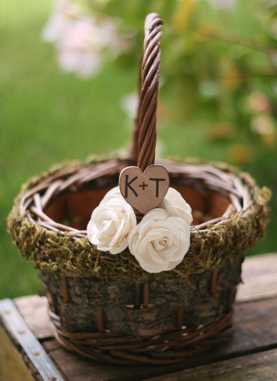 Wedding - Personalized Flower Girl Basket