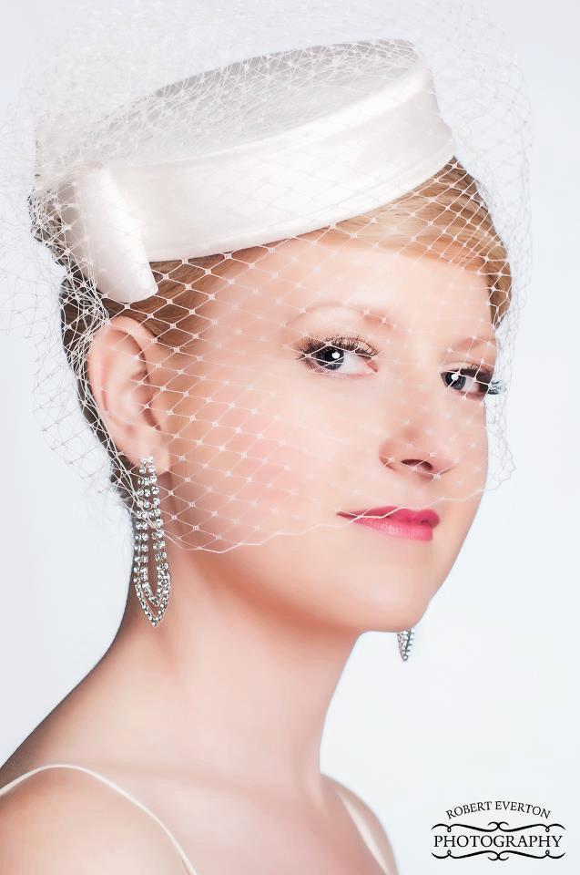 Hochzeit - Elegant  Silk Dupioni Pillbox Wedding Hat - Made to Order - Ships in 4 Weeks