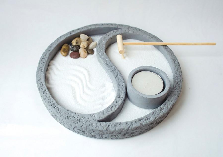 zen garden yin yang gifts mini zen garden office decor for women gift for her yoga gifts. Black Bedroom Furniture Sets. Home Design Ideas