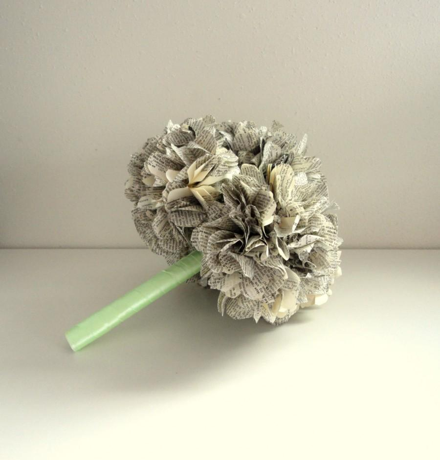 Mariage - Book Page Bouquet for a Vintage Wedding