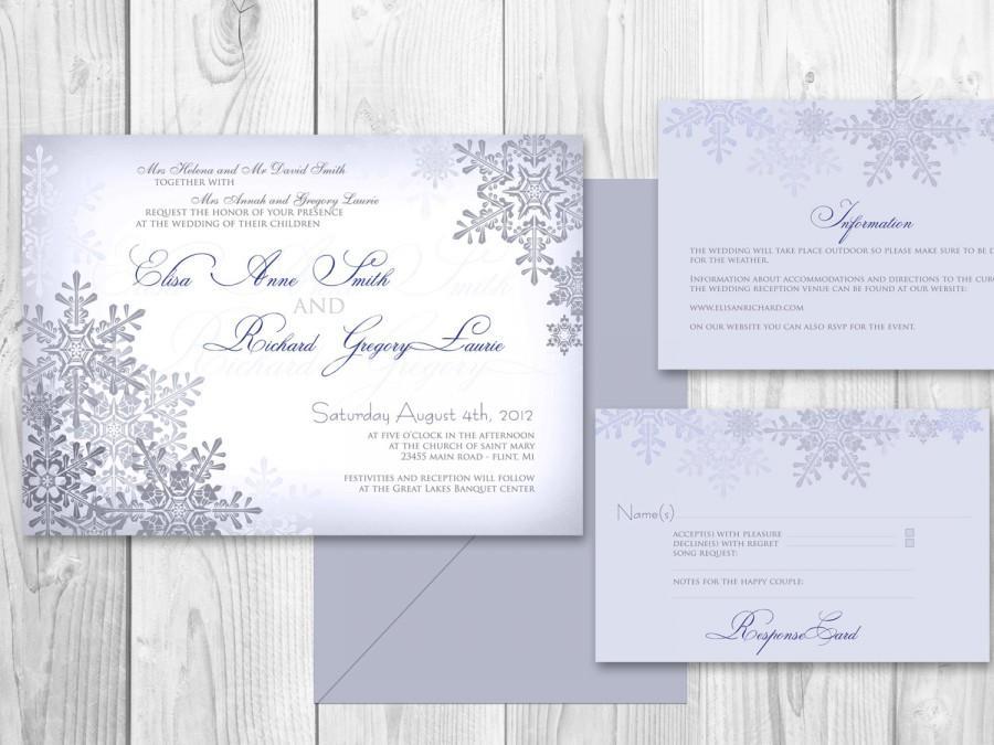 Mariage - WEDDING INVITATIONS Winter PRINTABLE - Winter wedding invitations