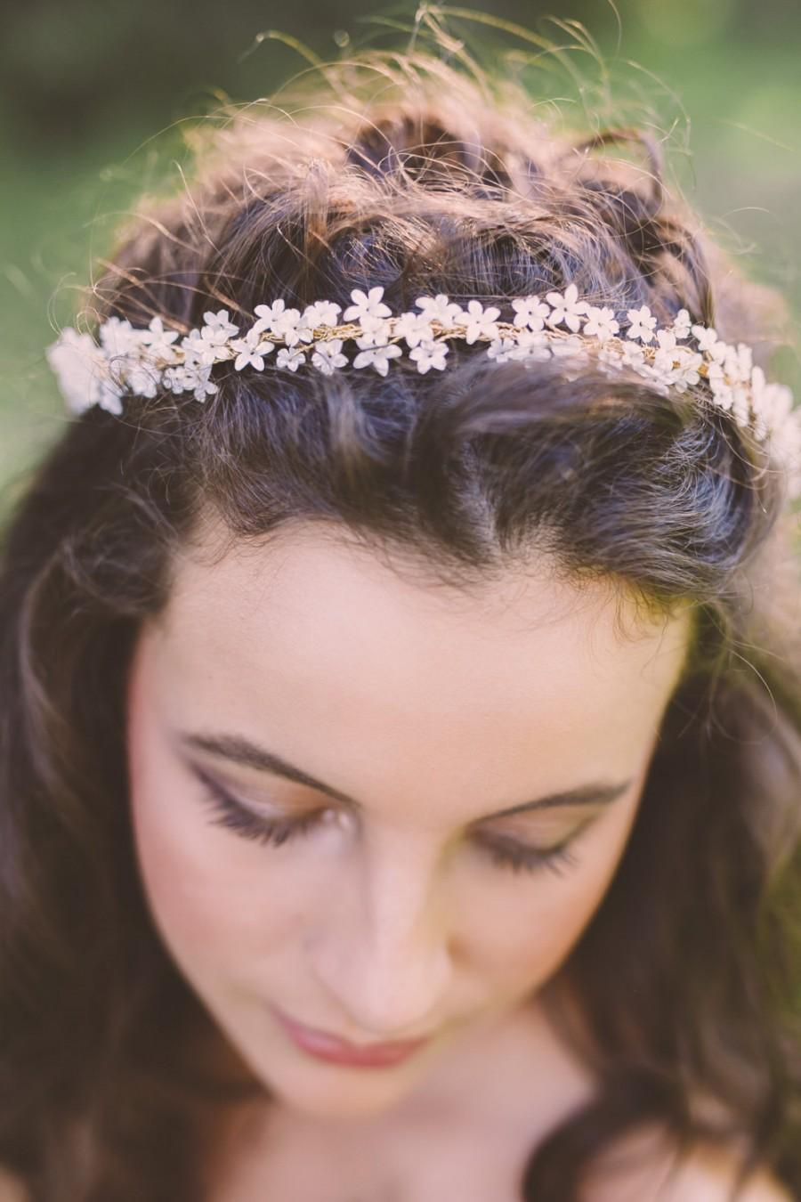 Babys Breath Flower Crown Bridal Flower Crown Wedding Floral Crown
