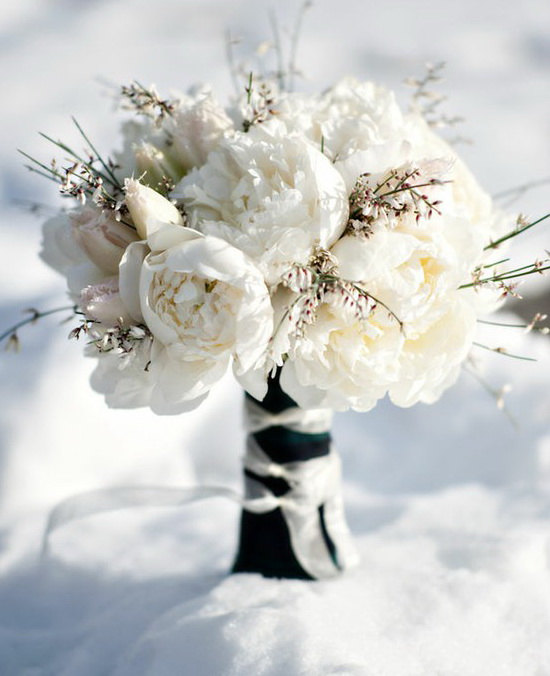 Winter Wedding Bouquet, Bridal Bouquet, Bridal Package Set, Brooch ...