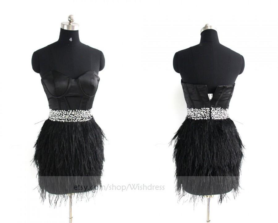 Mariage - Sexy Handmade Tassel Skirt Black Homecoming Dress/ Cocktail Dress /Short Prom Dress/   Formal Dress By Wishdress