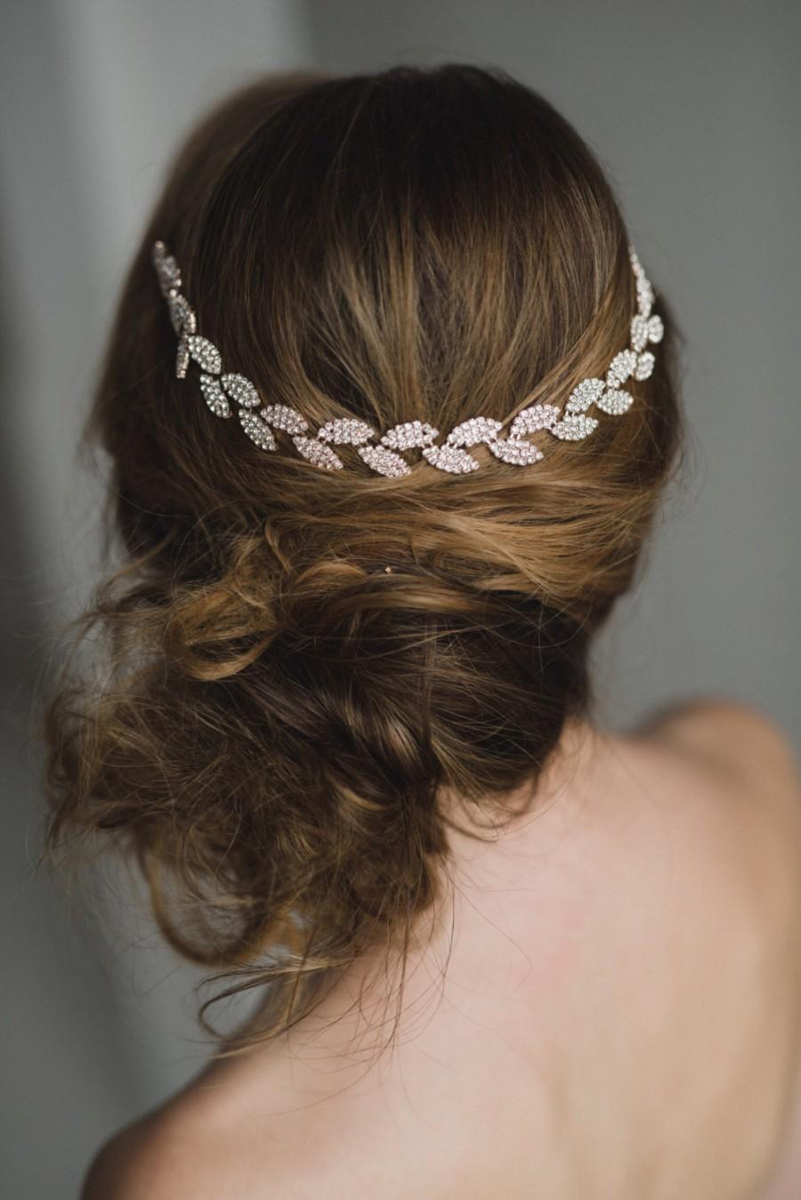 Mariage - Rose Gold Bridal Headband