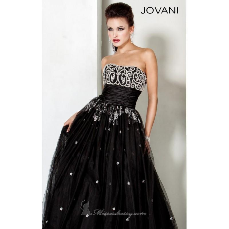 2014 Cheap Strapless Ball Gown By Jovani Evening 5126 Dress - Cheap ...