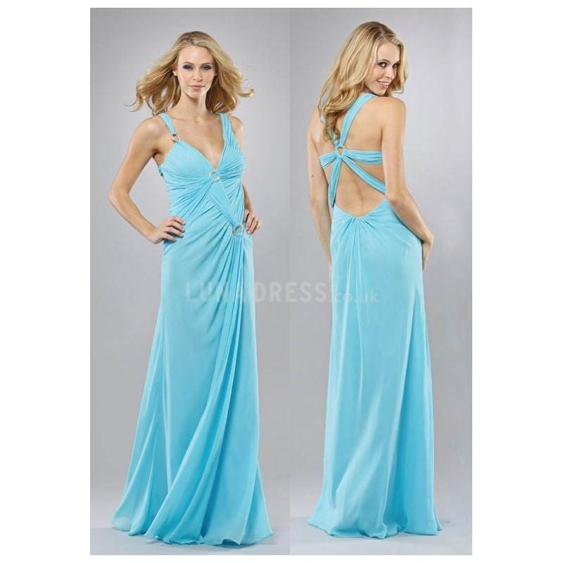 زفاف - Elegant Straps Floor Length Chiffon Empire A line Prom Dress - Compelling Wedding Dresses