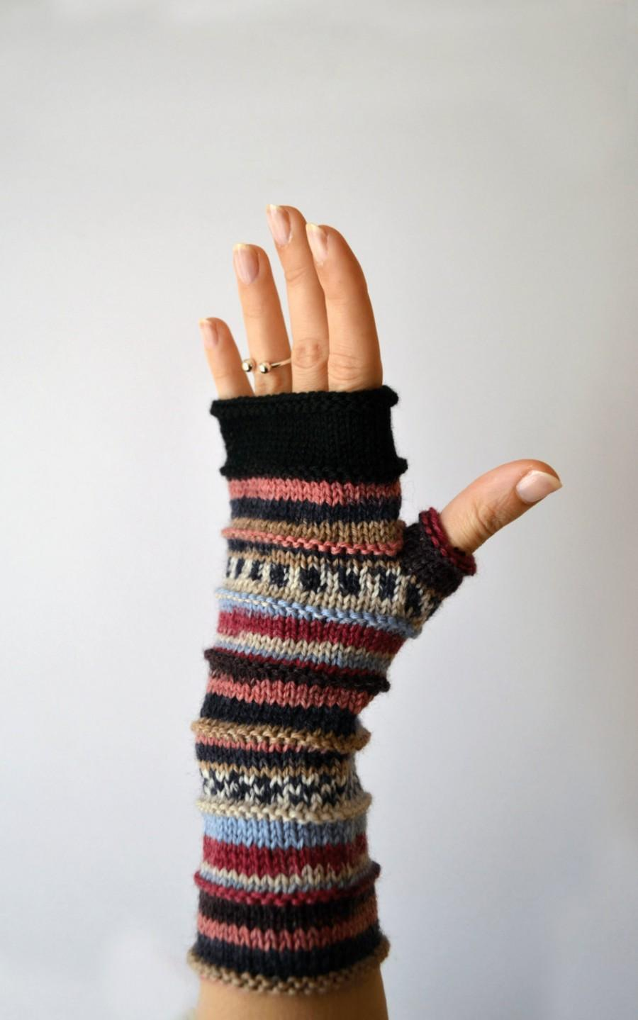 Wedding - Black Friday Sale - Colorful Fingerless Gloves - Christmas Gift - Winter Accessories - Women gloves - Women Fashion nO 73.