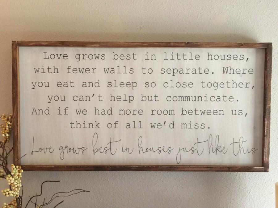 زفاف - love grows best in little houses - pick your size
