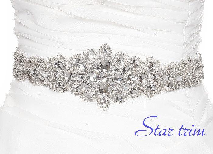 Wedding - SALE TARYN wedding crystal beaded sash