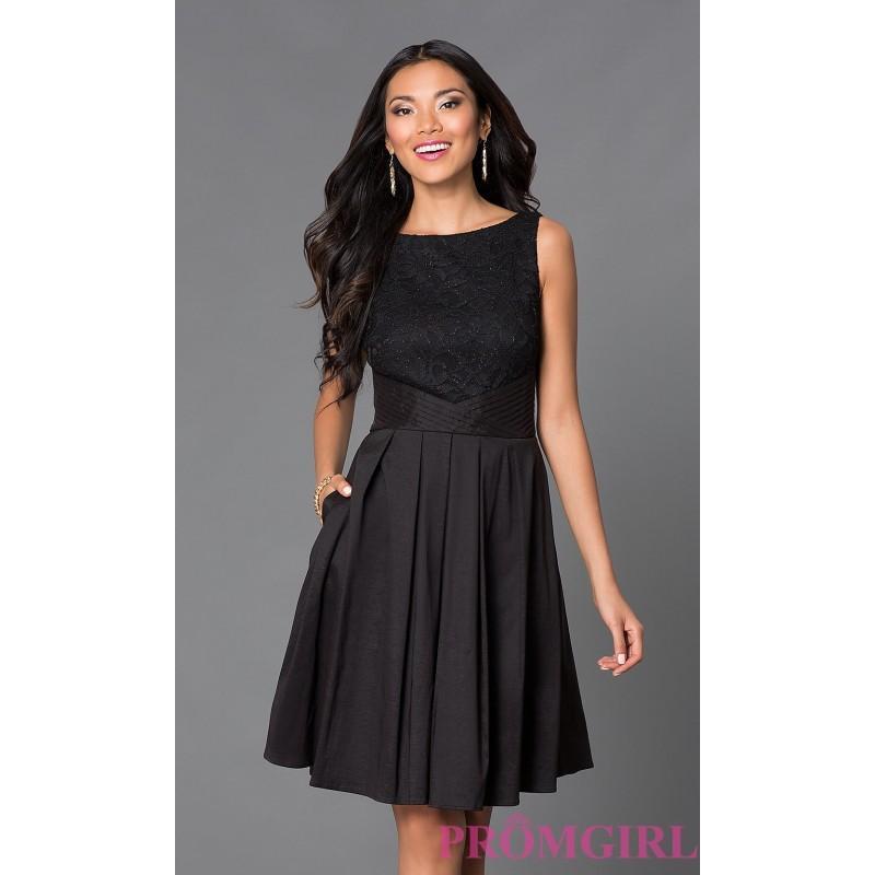 Wedding - Knee Length Bateau Neck Party Dress 8464 by Morgan - Brand Prom Dresses