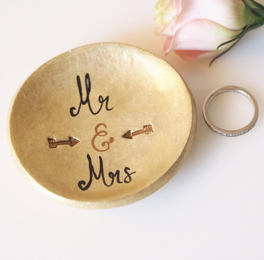 Mr And Mrs Ring Dish Handmade And Hand Painted Mr And Mrs Ring