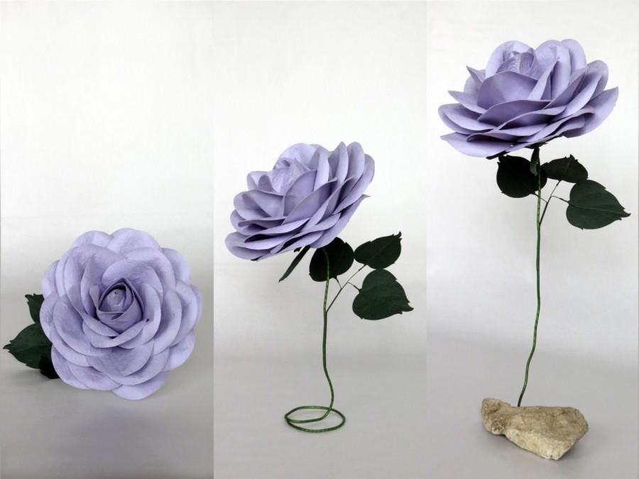 Mariage - Giant Paper Flower with Flexible Stem - Lilac Oversized Paper Rose